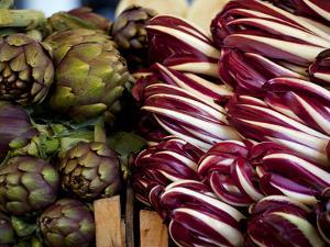 Venice, Veneto, Italy, Vegetables on Display in the Market by Ken Scicluna