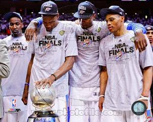 Kendrick Perkins, Kevin Durant, Serge Ibaka, & Russell Westbrook with the 2012 NBA WCFC Game 6