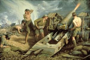 Canadian Artillery in Action, c.1915 by Kenneth Forbes