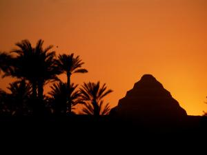 A Silhouette of the Step Pyramid at Dahshur by Kenneth Garrett