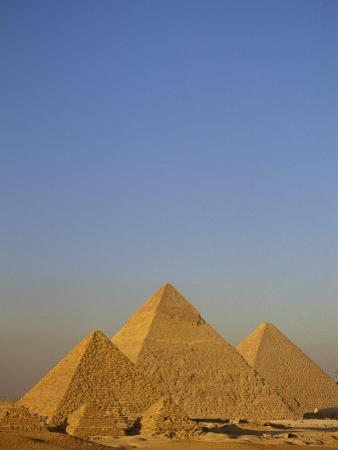 A View of the Great Pyramids of Giza