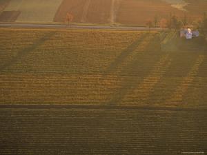 Aerial over Farmland near the Finger Lakes, New York by Kenneth Garrett