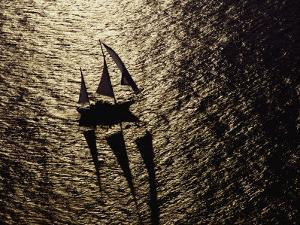 Aerial View of a Sailing Vessel at Sea by Kenneth Garrett