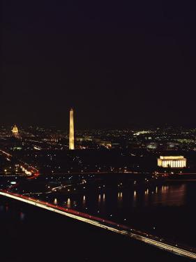 Aerial View of Washington, D.C. at Night by Kenneth Garrett
