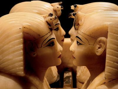 Alabaster Canopic Jars of Tutankhamun, King Tut, Egyptian Museum, New Kingdom, Cairo, Egypt by Kenneth Garrett