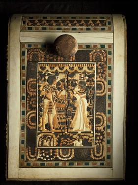 An Ivory-Paneled Box Shows King Tut With His Beloved Queen by Kenneth Garrett