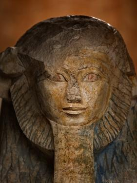 As a sphinx, Hatshepsut displays a lion's mane and a pharaoh's beard by Kenneth Garrett