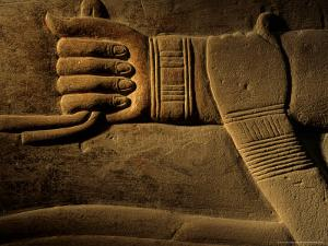 Clasped Hand of the Official Khudu-Khaf in Cemetery near Giza, Old Kingdom, Egypt by Kenneth Garrett