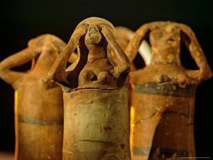 Clay Statuettes of Mourner, Bahariya Museum, Bahariya Oasis, Valley of the Golden Mummies, Egypt by Kenneth Garrett
