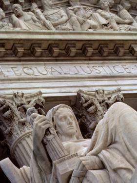 Closeup of a Statue at the Supreme Court Building, Washington, D.C. by Kenneth Garrett