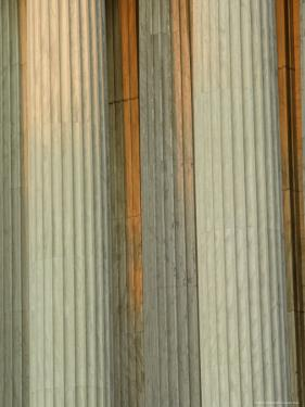 Closeup of Columns of the Supreme Court Building, Washington, D.C. by Kenneth Garrett