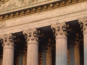 Closeup of the U.S. Supreme Court Building, Washington, D.C. by Kenneth Garrett