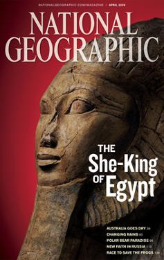 Cover of the April, 2009 National Geographic Magazine by Kenneth Garrett