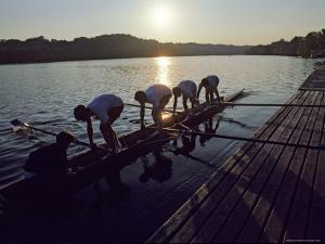 Crew Team Prepares for Morning Practice on the Potomac, Washington, D.C. by Kenneth Garrett