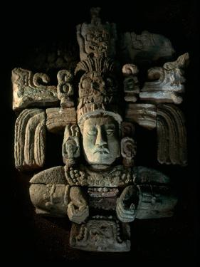 David Webser, Corn God, Royal Maya Tomb II, Sepulturas, Copan, Honduras by Kenneth Garrett