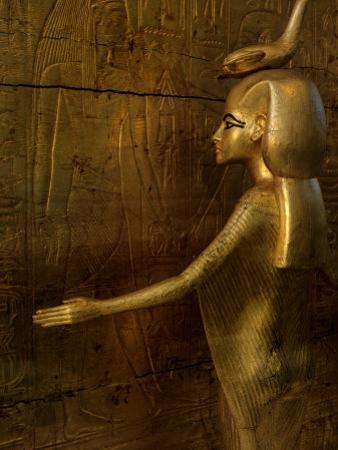 Detail of Goddess Selket, Pharaoh Tutankhamun, Egyptian Museum, Egypt by Kenneth Garrett