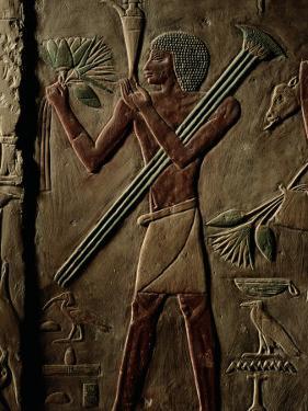 Egyptian Tomb Panel at Saqqara by Kenneth Garrett