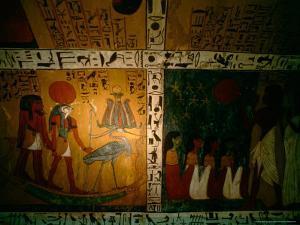 Funerary Scene from Tomb of Sennedjem, Deir el Medina, near Luxor, Egypt by Kenneth Garrett