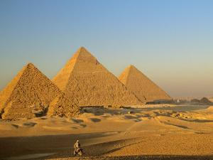 Giza Pyramid, Giza Plateau, Old Kingdom, Egypt by Kenneth Garrett
