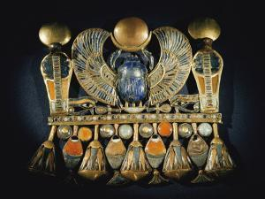 Gold and Semiprecious Stone Pendant from Tutankhamuns Tomb by Kenneth Garrett