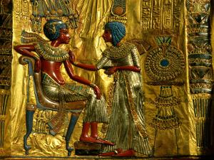 Gold and Silver Inlaid Throne from the Tomb of Tutankhamun, Valley of the Kings, Egypt by Kenneth Garrett