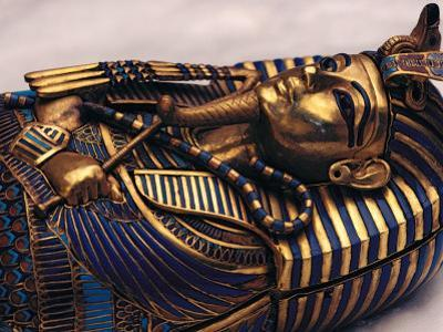 Gold Coffinette, Tomb King Tutankhamun, Valley of the Kings, Egypt by Kenneth Garrett