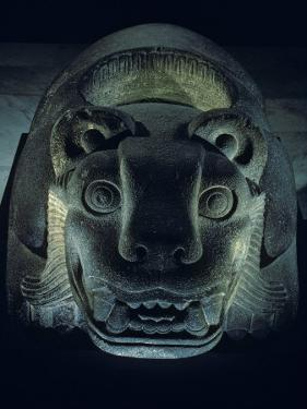 Jaguar-Shaped Receptacle for Hearts of Sacrifice Victims, Templo Mayor, Aztec, Mexico by Kenneth Garrett