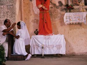 Maya Girls Receive First Communion, Telchaquillo, Mexico by Kenneth Garrett