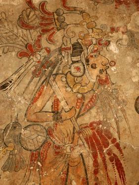 Maya Mural, San Bartolo, Guatemala by Kenneth Garrett