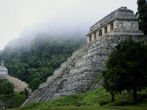 Misty View of the Temple of Inscriptions by Kenneth Garrett
