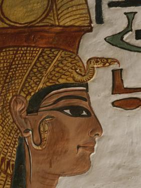 Nefertari Tomb Scenes (Detail), Valley of the Queens, Egypt by Kenneth Garrett