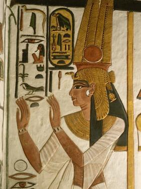 Nefertari Tomb Scenes, Valley of the Queens, Egypt by Kenneth Garrett