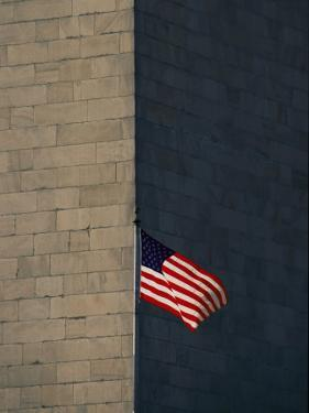 One of the American Flags Surrounding the Monument by Kenneth Garrett