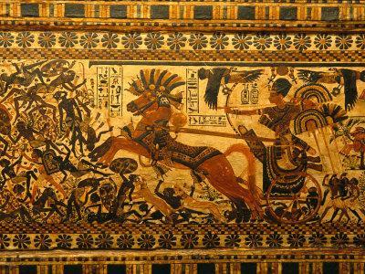 Painted Box, Tomb King Tutankhamun, Valley of the Kings, Egypt