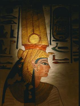Painting Located in the Tomb of Nefertari by Kenneth Garrett