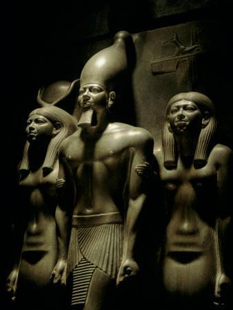 Pharaoh Menkaure with Two Goddesses, Egyptian Museum, Cairo, Egypt by Kenneth Garrett
