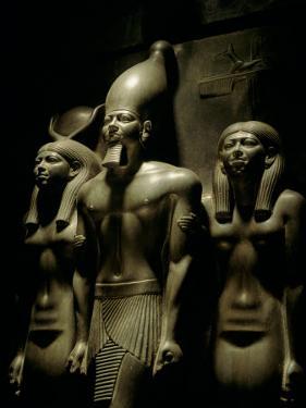 Pharaoh Menkaure with Two Goddesses, Egyptian Museum, Cairo, Egypt by Kenneth Garrett