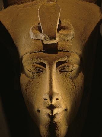 Pharaohs of the Sun, Sandstone Image of Akhenaten at Karnak, Egypt