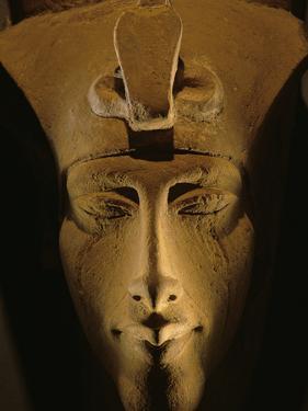 Pharaohs of the Sun, Sandstone Image of Akhenaten at Karnak, Egypt by Kenneth Garrett
