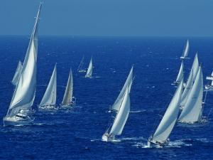 Sailing Off the Island of Antigua in the Caribbean by Kenneth Garrett