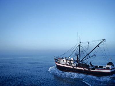 Shrimp Boat in the Gulf of Mexico by Kenneth Garrett
