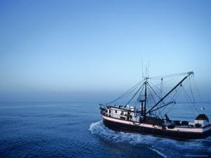 Shrimp Boat in the Gulf of Mexico by Kenneth Garrett