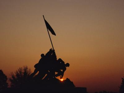 Silhouette of the Iwo Jima Monument at Twilight by Kenneth Garrett
