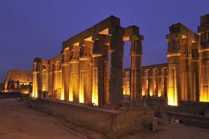 Solar Courtyard and Colonnade Built by Amenhotep Iii and Tutankhamun by Kenneth Garrett