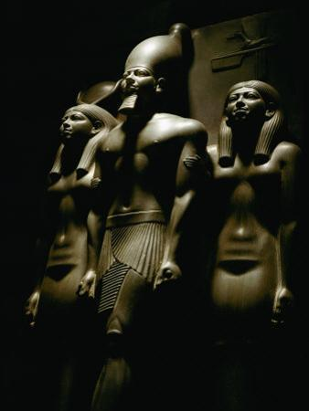 Statue of Pharaoh Menkaura, Found at Giza by Kenneth Garrett