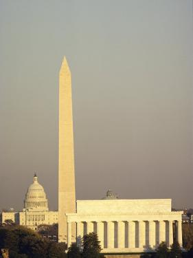 The Lincoln Memorial, Washington Monument, and the Capitol Building by Kenneth Garrett