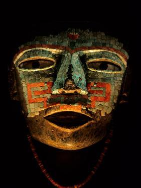 Turquoise, Mosaic, Mask, Teotihuacan, Mexico by Kenneth Garrett