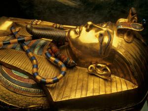 Valley of the Kings, Golden Coffin, Tutankhamun, Egypt by Kenneth Garrett