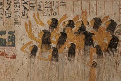 Women with Arms Stretched to the Heavens Mourn the Loss of Ramose by Kenneth Garrett