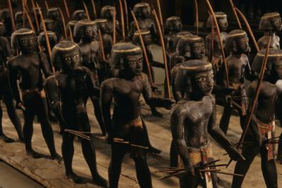 Wooden Nubian Archers from Tomb of Mesehti by Kenneth Garrett